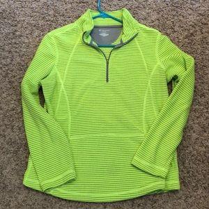 Lime Green Workout Quarterzip